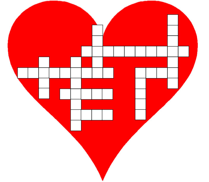 graphic relating to Valentine's Day Crossword Puzzle Printable known as Instant 3rd Quality Valentine Crossword Puzzle